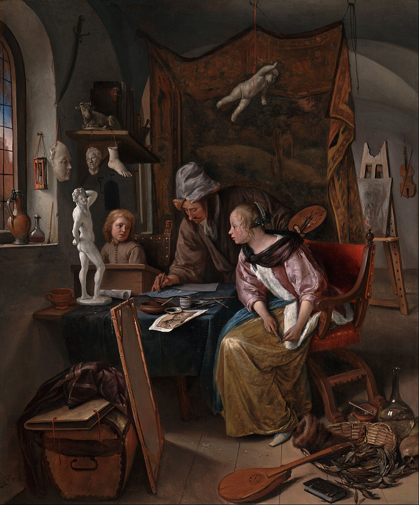 File:Jan Steen (Dutch) - The Drawing Lesson - Google Art Project ...