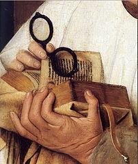 A detail from Madonna des Kanonikus Georg van der Paele by Jan van Eyck.