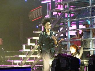 """Got 'til It's Gone - Jackson during the performance of """"Got 'til It's Gone"""" during her Rock Witchu Tour, 2008."""