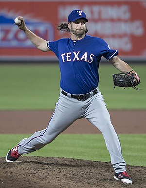 Jason Grilli - Grilli with the Texas Rangers in 2017.