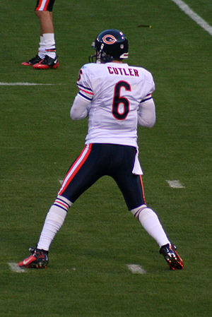 Jay Cutler of the Chicago Bears before a game ...