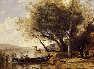 "Bornova - ""Bournabat, Smyrne"", as imagined by Jean-Baptiste-Camille Corot in an 1873 painting ordered, and subsequently refused, by the Turkish collector Eram Bey."