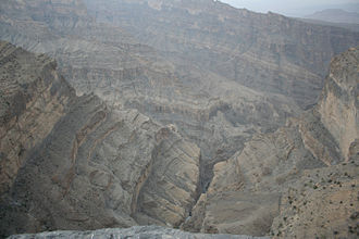 Jebel Shams - The gorge as seen from the summit