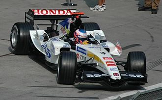 State Express 555 - Jenson Button driving for Honda F1 at the 2005 Chinese Grand Prix. Note the special State Express 555 livery that's used instead of the traditional Lucky Strike livery