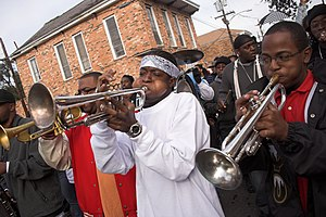 Music of New Orleans - A New Orleans brass band parade