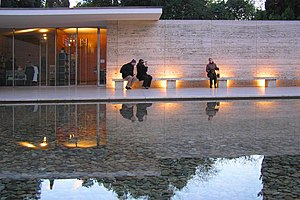 The Barcelona Pavilion. Built by Ludwig Mies v...