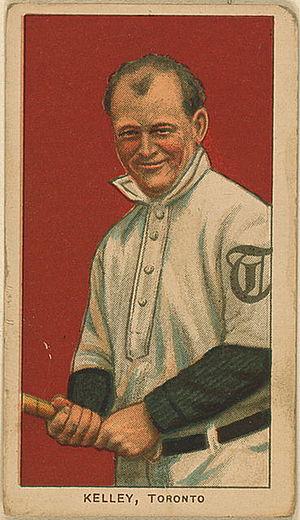 Joe Kelley - Kelley's 1909 American Tobacco Company baseball card