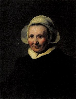 Portrait of a 62-year-old Woman, possibly Aeltje Pietersdr Uylenburgh - Image: Johann Heinrich Roos after Rembrandt Portrait of a 62 year old woman