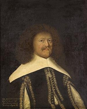 Sir John Hanmer, 1st Baronet - A painting of John Hanmer by Cornelis Janssens van Ceulen
