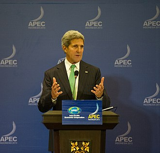 2013 United States federal government shutdown - Due to the shutdown, U.S. Secretary of State John Kerry took over President Barack Obama's seat at the 2013 Asia-Pacific Economic Cooperation (APEC) summit, where he reassured world leaders about the robustness of America's democracy.