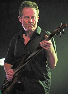 John Paul Jones plays bass guitar