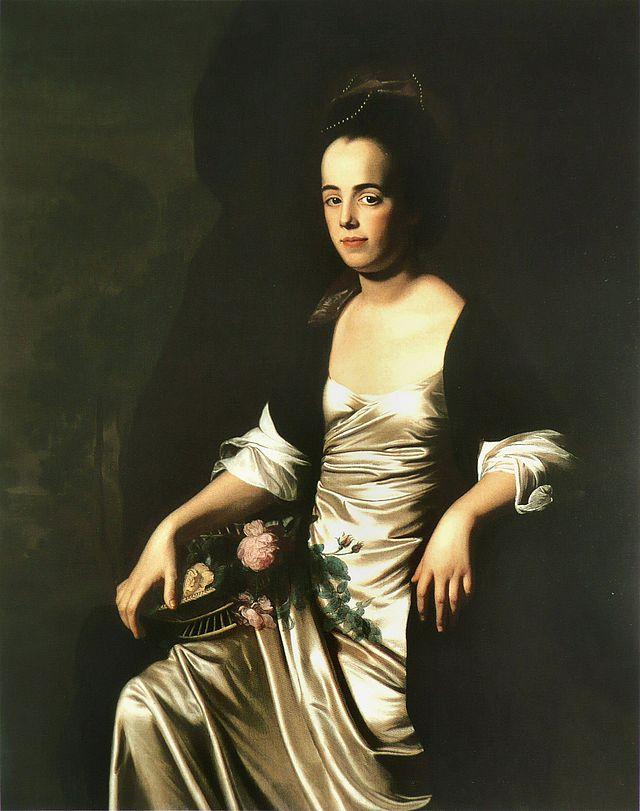 Portrait of Judith Sargent Murray by John Singleton Copley.