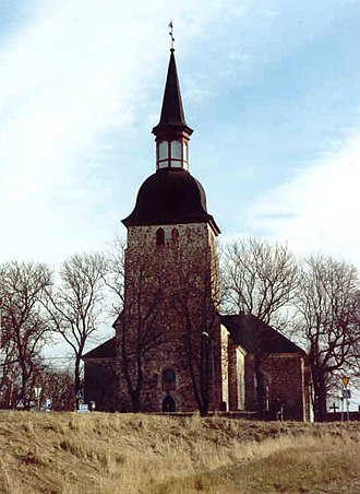 Jomala - The church of Jomala in 1991