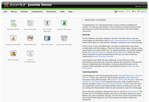 Overview of main administrative tasks in Jooml...