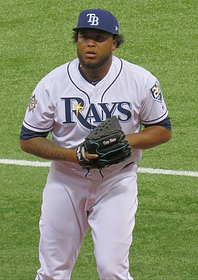 José Alvarado with the Tampa Bay Rays in 2018 (Cropped).jpg