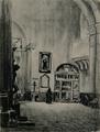 Joseph Pennell (1903) pila bautismal de Cervantes en Alcalá de Henares.png