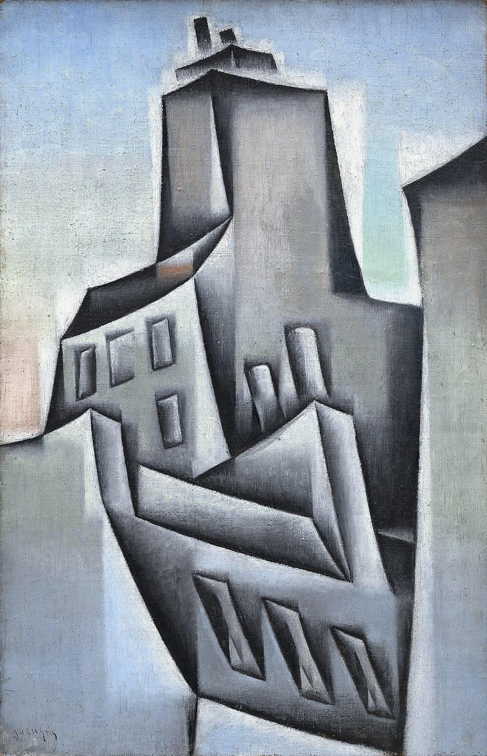 Juan Gris, 1911, Maisons à Paris (Houses in Paris), oil on canvas, 52.4 x 34.2 cm, Guggenheim Museum