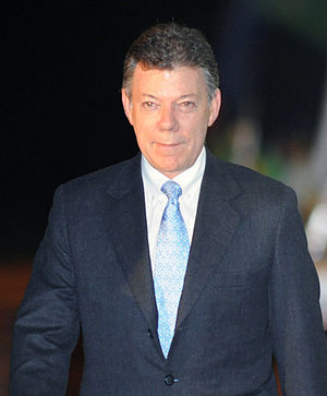 Colombian presidential election, 2014 - Image: Juan Manuel Santos In Brazil 2