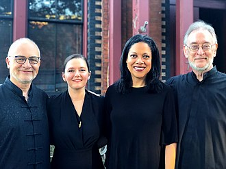 Juilliard String Quartet - Juilliard String Quartet members in September 2018. Left to right: Roger Tapping, Areta Zhulla, Astrid Schween, and Ronald Copes