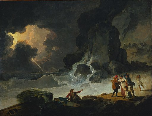 Julius Ibbetson - A Storm on the Isle of Wight (1780s)