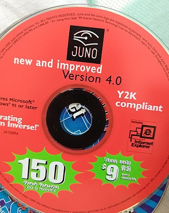 Year 2000 problem - Juno Internet Service Provider CD labeling Y2K-compliance