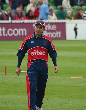 Justin Langer - Langer as captain at Somerset, 27 June 2007