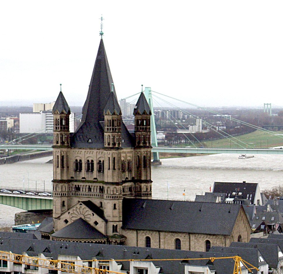 Köln - Groß St. Martin vom Dom