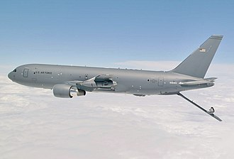 Boeing KC-46 Pegasus - A Boeing KC-46A with refueling boom extended