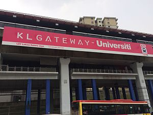 KL Gateway–Universiti LRT station - Image: KL Gateway Universiti Main board