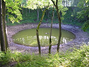 Saaremaa - The nearly circular main Kaali meteorite crater