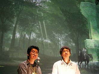 Shadow of the Colossus - Kenji Kaido, producer of the game, and Fumito Ueda, lead designer of the game at Art Futura 2005