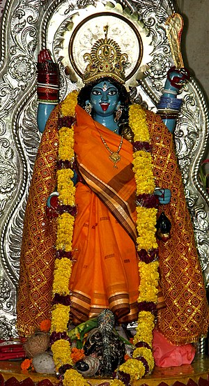 Chittaranjan Park - Kali idol at Chittaranjan Park Kali Mandir, CR Park.