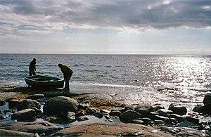 On the shore of the Kandalaksha Gulf