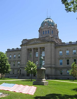 Kankakee, Illinois - Kankakee County Courthouse