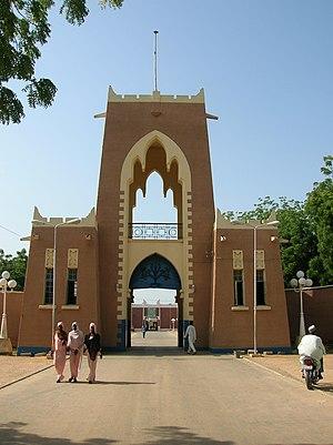 Gate to Emir's palace in Kano, Nigeria.