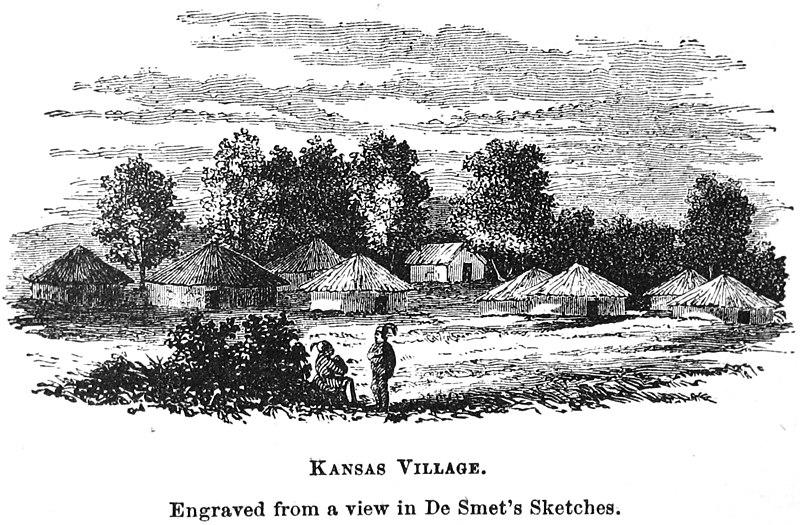 Kansas Indian village Barber 1865p637 cropped.jpg