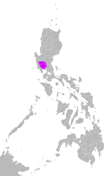 Kapampangan language maximum extent.png
