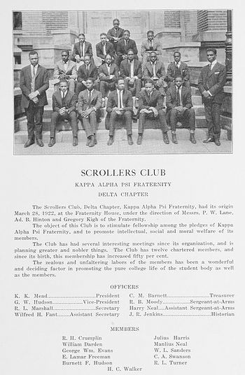 Scroller's Club of Kappa Alpha Psi - Wilberfor...