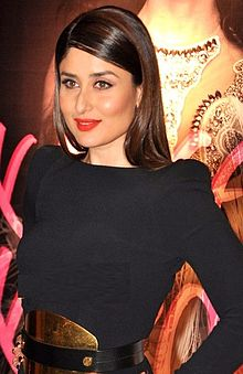 Kareena Kapoor clad in a black dress