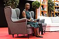Karen Lord sitting at the Hugo Award Ceremony at Worldcon 75 in Helsinki.jpg