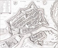 A map of Kassel in 1648.
