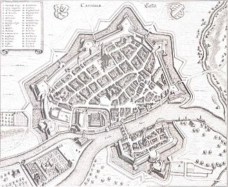 Kassel - A map of Kassel in 1648.