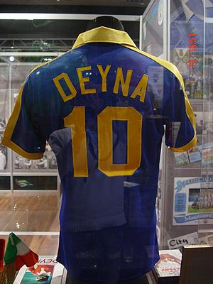 Kazimierz Deyna - The jersey that Deyna wore during his run on San Diego Sockers.