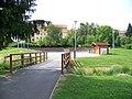 Kbely, Centrální park, lávka.jpg