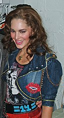 Kelli Barrett backstage at Rock of Ages (cropped).jpg