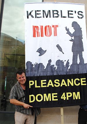 Brighton Open Air Theatre - Adrian Bunting promoting Kemble's Riot in Edinburgh in August 2012