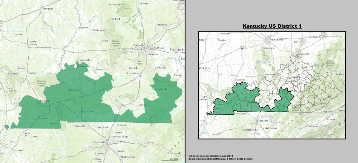 Kentuckys St Congressional District Wikipedia - Ky us map