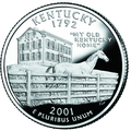Kentucky quarter, reverse side, 2001.png