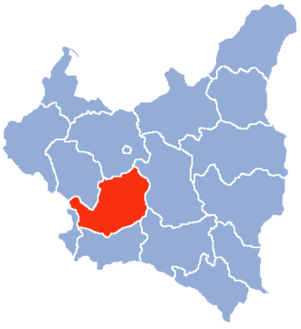 Kielce Voivodeship (1919–1939) - Location of the Kielce Voivodeship (red) within the Second Polish Republic, 1938.