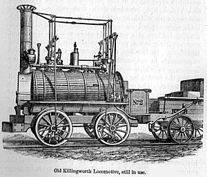 Track gauge - An early Stephenson locomotive